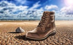 Shoes, Desert, Only, Stranger Stock Image