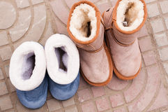 Cotton shoes Stock Photos