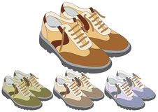Shoes in different color Stock Image
