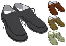 Shoes in different color Royalty Free Stock Photography