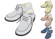 Shoes in different color vector illustration