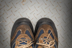 Shoes, dirty shoes and laces Stock Images