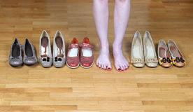 Shoes display Royalty Free Stock Image