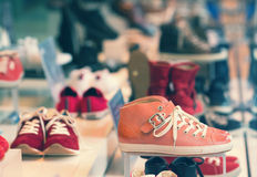 Shoes on display Royalty Free Stock Photo