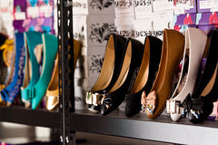 Shoes display Royalty Free Stock Photography