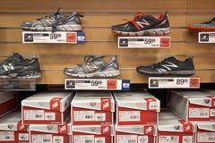 Cross trainer shoe display Stock Image