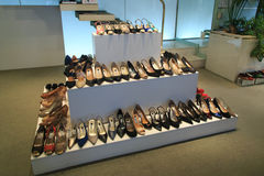 Shoes on display Royalty Free Stock Photography