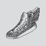 Shoes doodle style Royalty Free Stock Photography