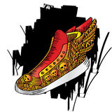 Shoes doodle style Royalty Free Stock Photos