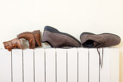 Shoes drying Stock Image