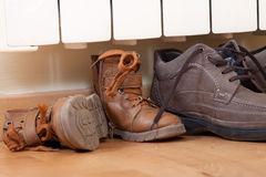 Shoes drying Royalty Free Stock Photos