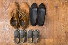 Shoes for the entire family Royalty Free Stock Images