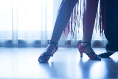 Shoes feet legs female ballroom dance teacher dancer Stock Image