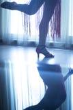 Shoes feet legs female ballroom dance teacher dancer Royalty Free Stock Images