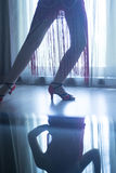 Shoes feet legs female ballroom dance teacher dancer Royalty Free Stock Photography