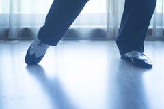 Shoes feet legs male ballroom dance teacher dancer Royalty Free Stock Photo