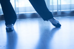 Shoes feet legs male ballroom dance teacher dancer Royalty Free Stock Photography