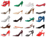 Shoes female set | Isolated Royalty Free Stock Photos