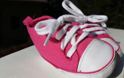 Shoes for the first steps in the world Stock Photography