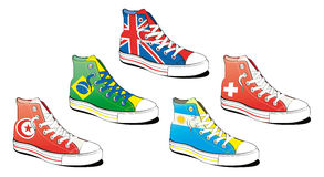 Shoes with flag Stock Photo