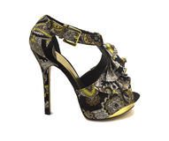 Shoes with floral print Royalty Free Stock Image
