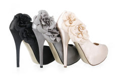 Shoes with flowers Royalty Free Stock Photography