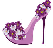 Shoes from flowers. Stock Images