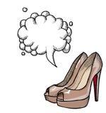 Shoes-100 gîté par haute Images libres de droits