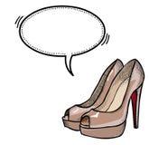 Shoes-100 gîté par haute Photographie stock libre de droits