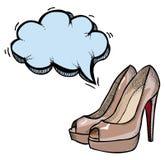 Shoes-100 gîté par haute Photos stock