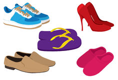 Shoes Galore Royalty Free Stock Images