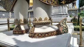 Shoes of Giant demon guarding an entrance to Wat Phra Kaew Stock Photo