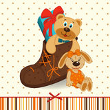 Shoes with gifts Royalty Free Stock Photos