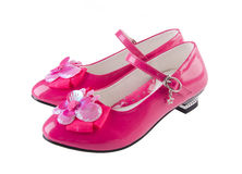 Shoes for girls on background Royalty Free Stock Photography