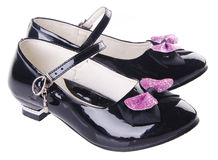 Shoes for girls on background Royalty Free Stock Photo