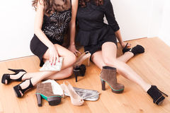 Shoes and girls Royalty Free Stock Photos