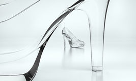 Shoes of glass Stock Images