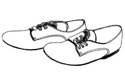 Shoes. Graphic illustration a pair of shoes Royalty Free Stock Images