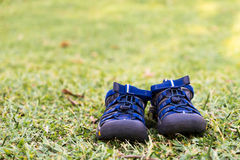 Shoes on the grass Stock Photo