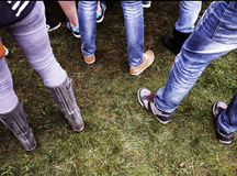 Shoes on grass Royalty Free Stock Photo
