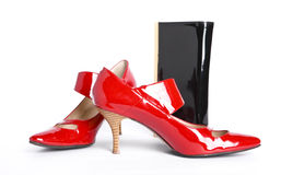 Shoes and  handbag Stock Image