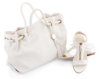 Shoes and handbag Stock Photo