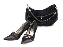 Shoes and handbag Royalty Free Stock Photography