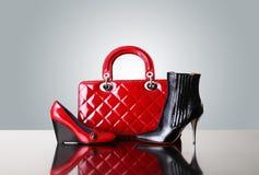 Shoes and handbag Royalty Free Stock Photography