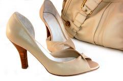 Shoes and handbag royalty free stock photos