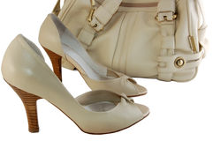 Shoes and handbag Stock Photography