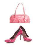Shoes with handbag Stock Photo