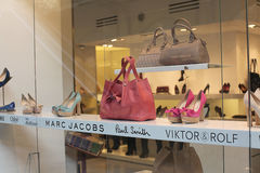 Shoes handbag fashion shop Stock Image
