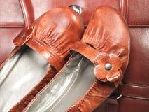 Shoes and a handbag Royalty Free Stock Photos