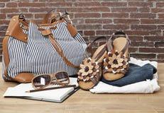 Shoes and Handbag Royalty Free Stock Image